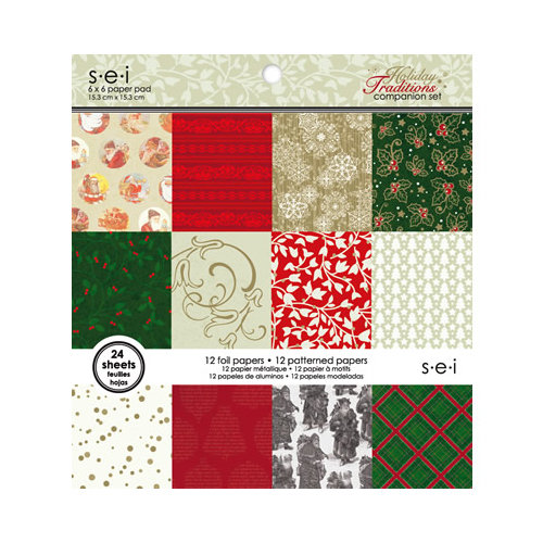 SEI - Holiday Traditions Collection - Christmas - 6 x 6 Paper Pad