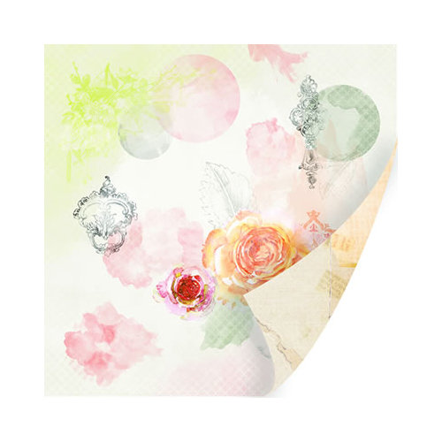 SEI - Mia Bella Collection - 12 x 12 Double Sided Paper with Pearl Accents - Lover's Rendezvous