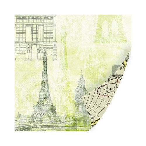 SEI - Mia Bella Collection - 12 x 12 Double Sided Paper with Pearl Accents - Sight Seeing