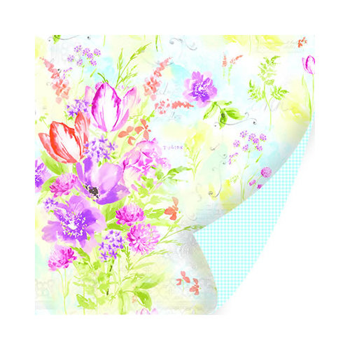 SEI - Diane Collection - 12 x 12 Double Sided Paper with Glitter Accents - Sunday Brunch