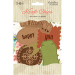 SEI - Catalina Collection - Kraft chips - Die Cut Chipboard with Laser Cut Details