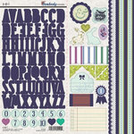 SEI - Pembroke Collection - Cardstock Stickers with Foil Accents - Alphabet