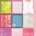 SEI - Azalea Collection - 12 x 12 Double Sided Perforated Sheet - Chick Flick