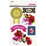 SEI - Azalea Collection - 3 Dimensional Cardstock Stickers with Jewel Accents