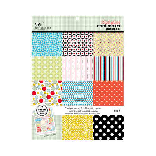 SEI - Think of Me Collection - 8.5 x 11 Card Maker Paper Pack