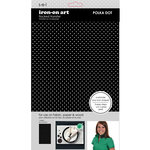 SEI - Iron-On Art - Flocked Transfer Sheet - Black Polka Dot