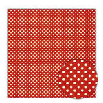 Sassafras Lass - Blue Boutique Collection - 12x12 Paper - Crimson Dots, CLEARANCE