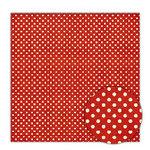 Sassafras Lass - Blue Boutique Collection - 12x12 Paper - Crimson Dots, CLEARANCE