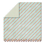 Sassafras Lass - Serendipity Collection - Hog Heaven - 12 x 12 Double Sided Paper - Pinstriped, CLEARANCE