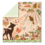 Sassafras Lass - Serendipity Collection - Fawnd of You Too - 12 x 12 Double Sided Paper - In Love