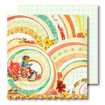 Sassafras Lass - Vintage Yummy Collection - 12x12 Double Sided Paper with Border Strip - Memory Lane