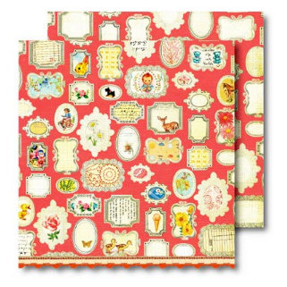 Sassafras Lass - Vintage Yummy Collection - 12x12 Double Sided Paper with Border Strip - Remember Me