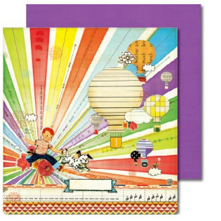 Sassafras Lass - Anthem Collection - 12x12 Double Sided Paper with Border Strip - Dream Big