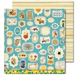 Sassafras Lass - Anthem Collection - 12x12 Double Sided Paper with Border Strip - Wall of Fame