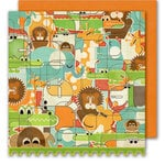 Sassafras Lass - Bungle Jungle Collection - 12x12 Double Sided Paper with Border Strip - Stampede