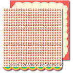 Sassafras Lass - Me Likey Collection - 12 x 12 Double Sided Paper with Border Strip - Fresh Pick