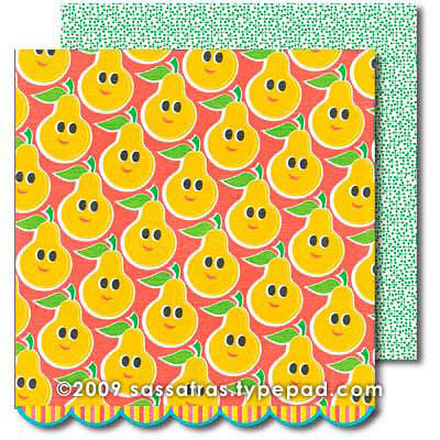 Sassafras Lass - Me Likey Collection - 12 x 12 Double Sided Paper with Border Strip - Sweetest Pair, CLEARANCE
