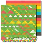 Sassafras Lass - Me Likey Collection - 12 x 12 Double Sided Paper with Border Strip - Angular, CLEARANCE