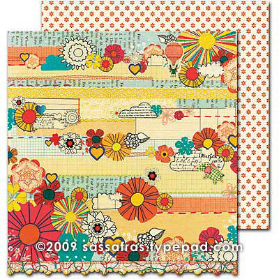 Sassafras Lass - Sweet Marmalade Collection - 12 x 12 Double Sided Paper - Handmade
