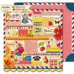 Sassafras Lass - Cherry Delicious Collection - 12 x 12 Double Sided Paper - Winsom