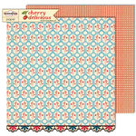 Sassafras Lass - Cherry Delicious Collection - 12 x 12 Double Sided Paper - Spring Sprig , CLEARANCE