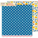 Sassafras Lass - Cherry Delicious Collection - 12 x 12 Double Sided Paper - Sapphire , CLEARANCE