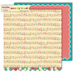 Sassafras Lass - Nerdy Bird Collection - 12 x 12 Double Sided Paper - Sprightly