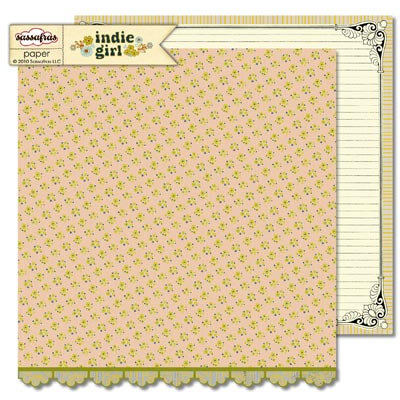 Sassafras Lass - Indie Girl Collection - 12 x 12 Double Sided Paper - Mellow