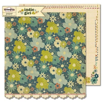 Sassafras Lass - Indie Girl Collection - 12 x 12 Double Sided Paper - Eclectic Elegance