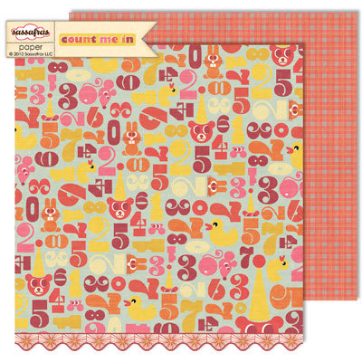 Sassafras Lass - Count Me In Collection - 12 x 12 Double Sided Paper - Love to Learn
