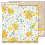 Sassafras Lass - Mix and Mend Collection - 12 x 12 Double Sided Paper - Delicate Olio