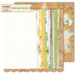 Sassafras Lass - Mix and Mend Collection - 12 x 12 Double Sided Paper - Free Composition