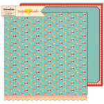 Sassafras Lass - Paper Crush Collection - 12 x 12 Double Sided Paper - Pitter Patter