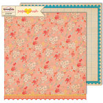 Sassafras Lass - Paper Crush Collection - 12 x 12 Double Sided Paper - Sweet Smooches