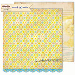 Sassafras Lass - Sweetly Smitten Collection - 12 x 12 Double Sided Paper - Dainty Sketch