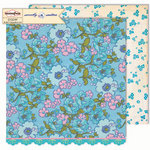 Sassafras Lass - Sweetly Smitten Collection - 12 x 12 Double Sided Paper - Vintage Lovely