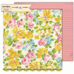 Sassafras Lass - Sweetly Smitten Collection - 12 x 12 Double Sided Paper - Floral Fields