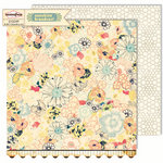 Sassafras Lass - Sunshine Broadcast Collection - 12 x 12 Double Sided Paper - Flourish