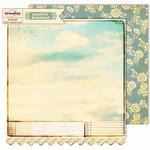 Sassafras Lass - Sunshine Broadcast Collection - 12 x 12 Double Sided Paper - Enlighten