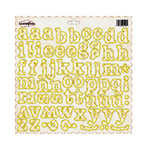 Sassafras Lass - Sunshine Lollipop Collection - 12x12 Cardstock Monogram Stickers - Sunshine Lollipop, CLEARANCE