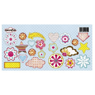 Sassafras Lass - Sunshine Lollipop Collection - Cardstock Sweet Treats Stickers - Sunshine Lollipop