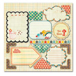 Sassafras Lass - Serendipity Collection - Happy Place - 12 x 12 Cardstock Stickers - Journal Tags