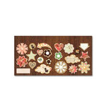 Sassafras Lass - Serendipity Collection - Fawnd of You Too - Cardstock Stickers - Sweet Treats, CLEARANCE
