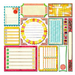 Sassafras Lass - Vintage Yummy Collection - 12x12 Cardstock Stickers - Journal Tags