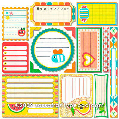 Sassafras Lass - Me Likey Collection - 12 x 12 Cardstock Stickers - Journal Tags