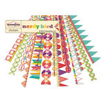 Sassafras Lass - Nerdy Bird Collection - 12 x 12 Cardstock Stickers - Flag Banners