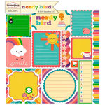 Sassafras Lass - Nerdy Bird Collection - 12 x 12 Cardstock Stickers - Journal Tags, CLEARANCE