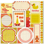 Sassafras Lass - Count Me In Collection - 12 x 12 Cardstock Stickers - Journal Tags
