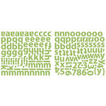 Sassafras Lass - Glittered Cardstock Stickers - Alphabet - Kelly Green