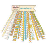 Sassafras Lass - Mix and Mend Collection - 12 x 12 Cardstock Stickers - Flag Banners
